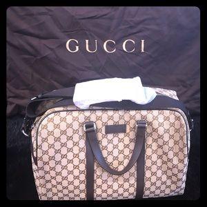 100% AUTH Gucci GG Canvas Duffle Bag w/ Adj. strap